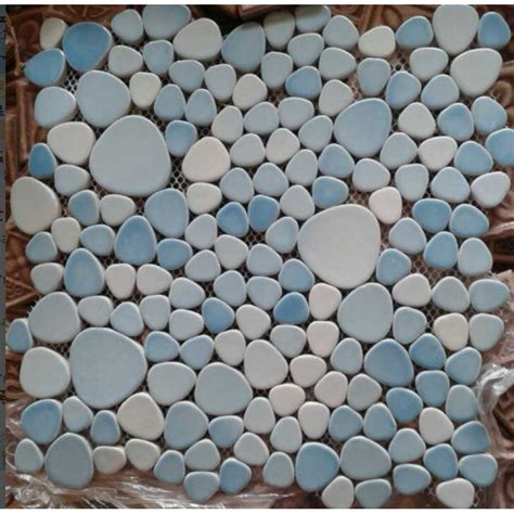pebble tile mosaics porcelain pebble tile shaped ceramic mosaic designs