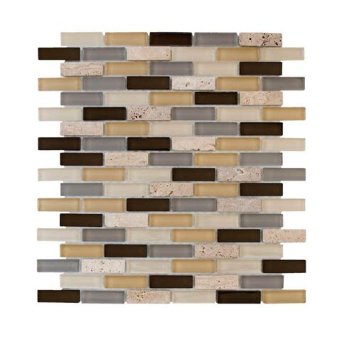 jeffrey court silver screen mosaic tile jeffrey court castle brick 12 in x 12 in x 8 mm