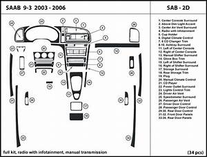 Saab 9  Infotainment Manual Transmission Dash Kit Trim Sab2d