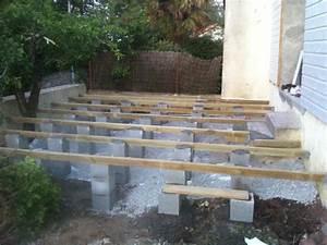 nivremcom monter sa terrasse en bois sur pilotis With construire sa terrasse bois