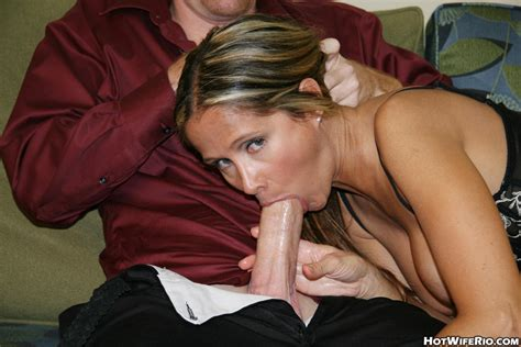 hot wife rio eagerly sucking and licking a hard cock