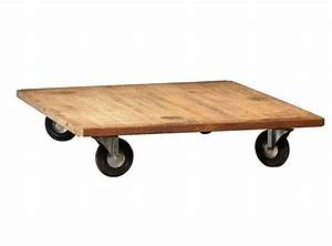 Roue Table Basse : table basse verre grosses roues choix d 39 lectrom nager ~ Teatrodelosmanantiales.com Idées de Décoration