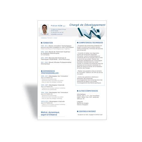 télécharger modèle cv word resume format mod 232 le cv dynamique