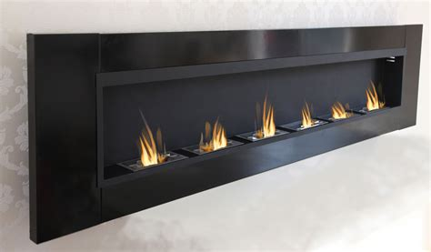 6 Burner Luxury Chimney Bio Ethanol Gel Fireplace Wall