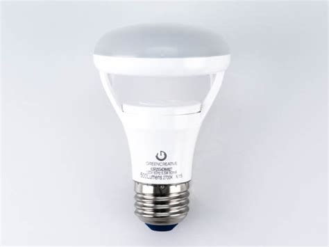 green creative dimmable 6 5w 2700k r20 led bulb for
