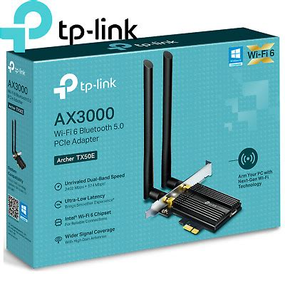 Speed in hundreds of i could find neither atheros nor broadcom pcie solutions with wifi 6 with a quick google search. TP-Link WiFi 6 Network Card Archer TX50E AX3000 Bluetooth5 PCIe Internal Adapter 6935364052867 ...