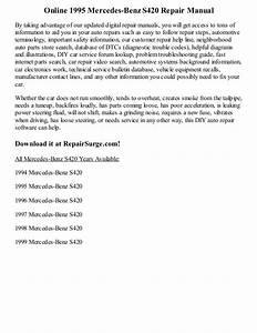 1995 Mercedes Benz S420 Repair Manual Online