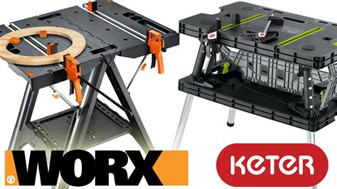 worx pegasus folding work worx pegasus folding work table vs keter review and demo