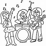 Rock Coloring Pages Band Concert Star Roll Female Kiss Drawing Ways Printable Lipstick Experts Biz Supercoloring Super Getcolorings Piano Guitarist sketch template