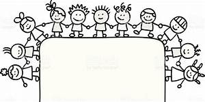Happy Children Clip Art Black And White – 101 Clip Art