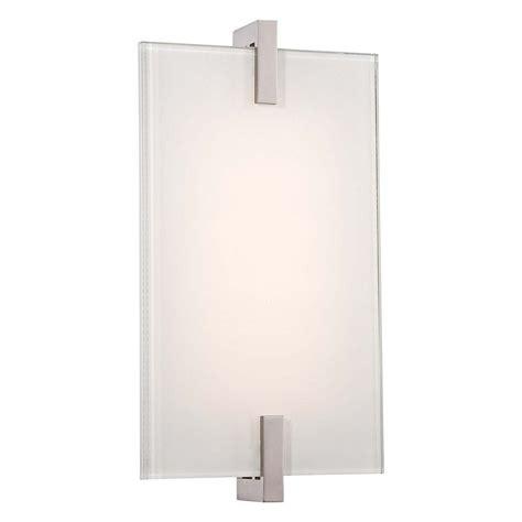 modern led sconce wall light in polished nickel finish p1110 613 l destination lighting