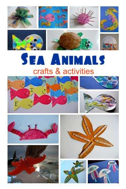 sea animal crafts amp activities no time for flash cards 149 | SeaAnimal kids CraftsActivities