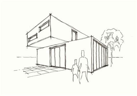 Haus Skizze Einfach by Direkte Haus Skizze Vektor Mit Rauch Aus Dem Schornstein