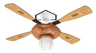 hunter baseball fan ceiling fan 23252 in leather look