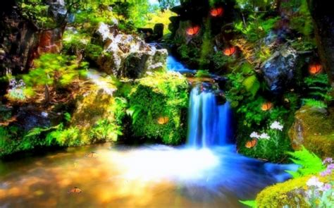 Waterfalls Wallpaper With Animals - splendid waterfall waterfalls nature background