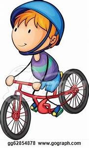 Riding A Bicycle Clipart - Clipart Suggest