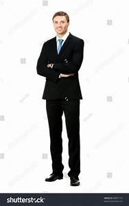 Full Body Portrait Happy Smiling Business Stock Photo ...