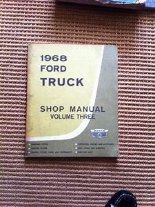 Purchase 1968 Ford Truck Service Repair Shop Manual  3 F100 F250 F350 Body Trim Heating