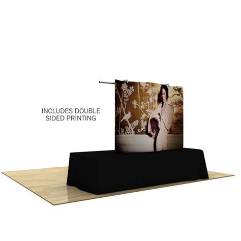 tension fabric table covers 6ft wave tube double sided tension display