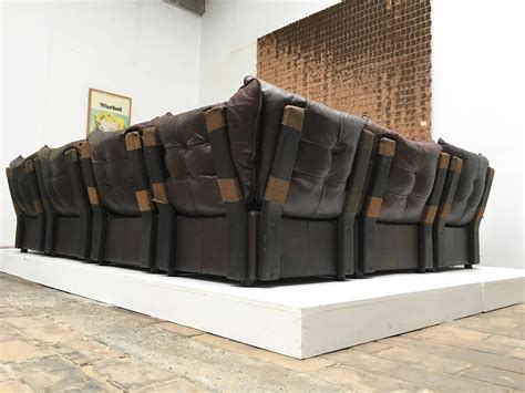 chocolate brown sofas for sale gypset 1970s chocolate brown distressed leather sectional