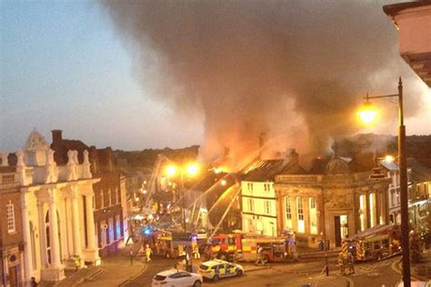 sudbury fire massive blaze rips  suffolk market