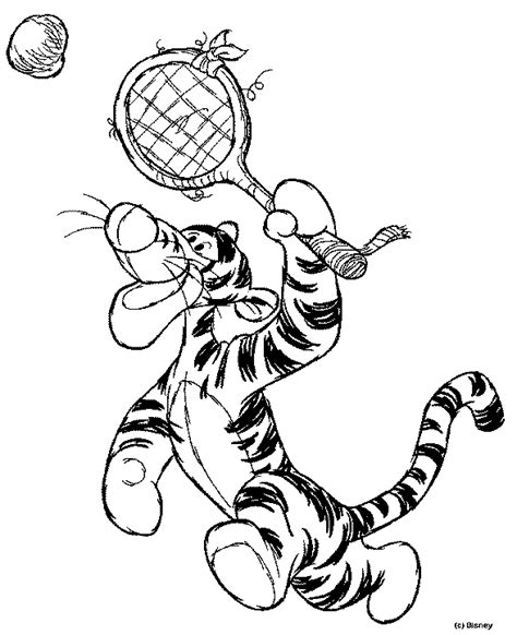 Kleurplaat Badminton by Tennis Kleurplaten Tijgertje Tennis