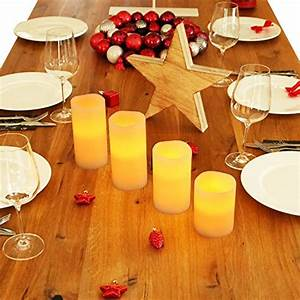 Led Kerzen Mit Fernbedienung 4er Set : 4er set led kerzen echtwachs flackernder flamme ~ Orissabook.com Haus und Dekorationen