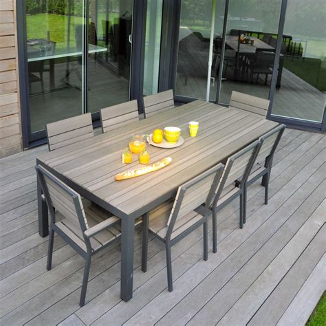 table 4 chaises best table salon de jardin marbre ideas amazing house