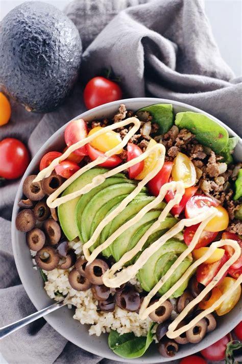 ground beef taco bowl recipe paleo  gf