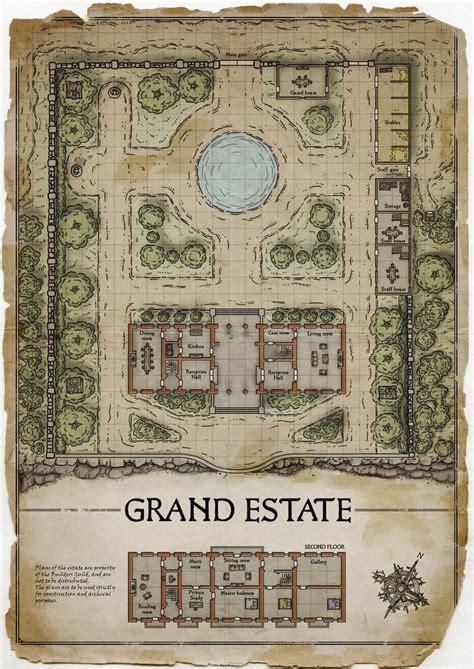 grand eatate myths  legends map fantasy map