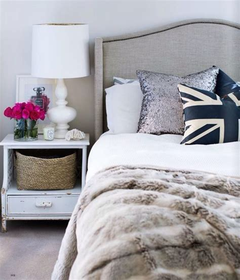 shabby chic bed throws interior design bedroom with faux fur throw white table l upholstered bed head shabby chic