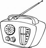 Radio Drawing Template Coloring Pages Sketch Getdrawings sketch template
