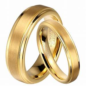 aliexpresscom buy soul men 1 pair gold color tungsten With gold wedding rings for him