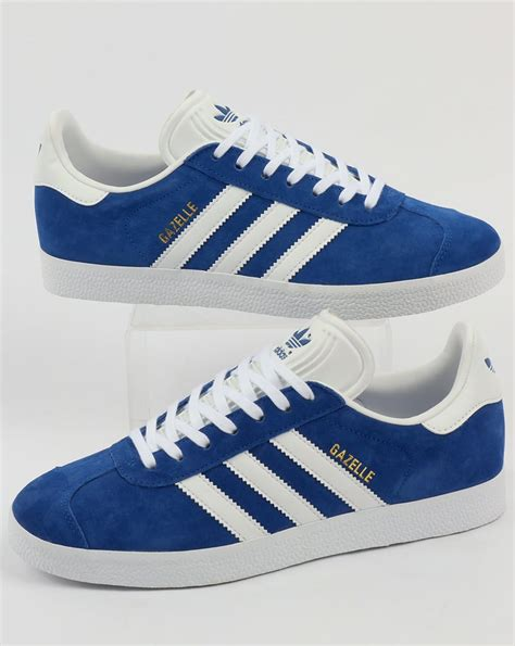 adidas gazelle trainers royal blue white originals