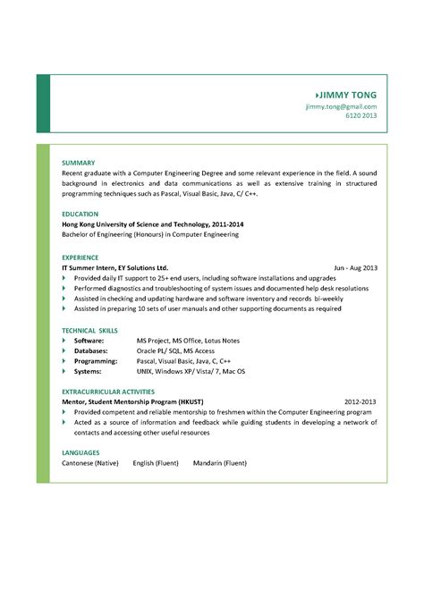 computer engineering graduate cv ctgoodjobs powered