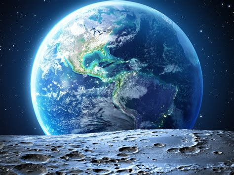 We hope you enjoy our growing collection of hd images to use as a. Earth The Blue Planet View From Moon North And South ...