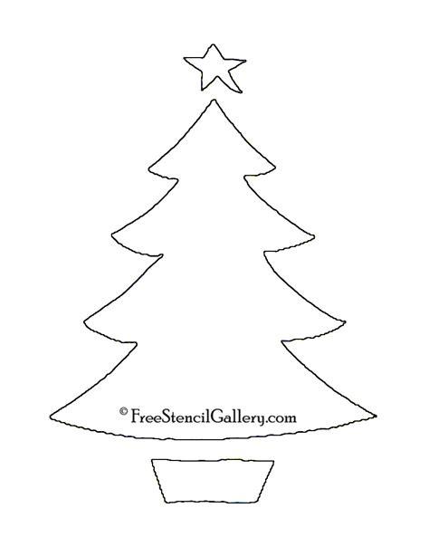 christmas tree stencil 13 free stencil gallery