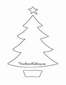 Christmas, Tree, Stencil, 13