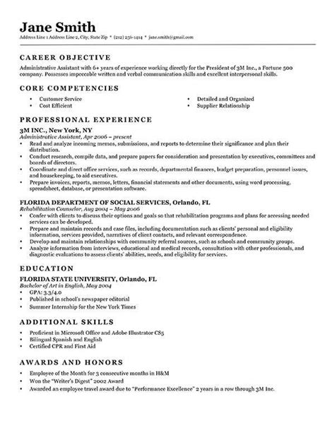 Classic Resume Template Word by Free Classic Resume Templates In Microsoft Word Format
