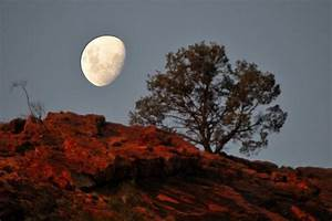 Moon over Alice Springs, 07-03-2009, Alice Springs, Austra ...