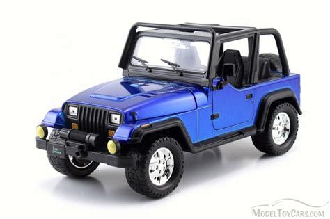 toy jeep car 1992 jeep wrangler blue jada 98081wa 1 24 scale