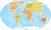 Vector map of world continents ~ Graphics ~ Creative Market