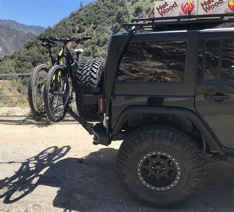 jeep wrangler bike carrier rack rubicon carriers bicycle isi tire tyres inch ia customers
