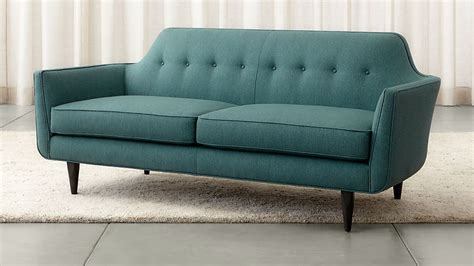 And Barrel Apartment Sofa by Blue Modern Tufted Apartment Sofa Crate And Barrel