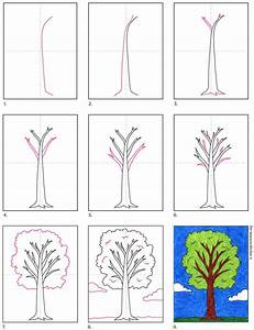 How To Draw A Tree  U00b7 Art Projects For Kids