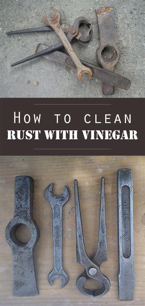 clean rust  vinegar cleaningtipsnet