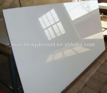 1220*2440*18mm High Gloss White Color Uv Mdf Board For