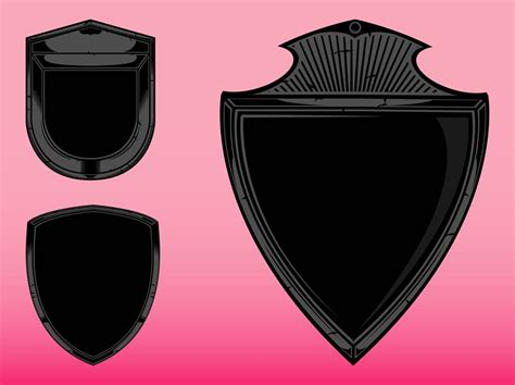 blank shields graphics vector art graphics freevectorcom