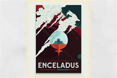 Enceladus Nasa Tourism Posters Propel Mission