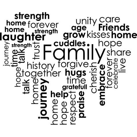 Sticker Citation Forever Strenght Grow Kisses Family Share